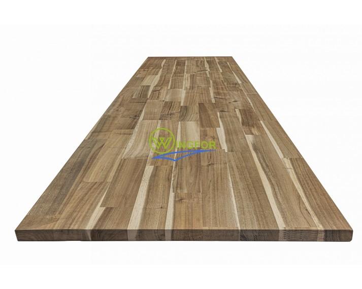Blat drewniany 94x220x2,4 cm, akacja azjatycka, surowy, o szer. 94 cm, dł. 220 cm i gr. 2,4 cm.