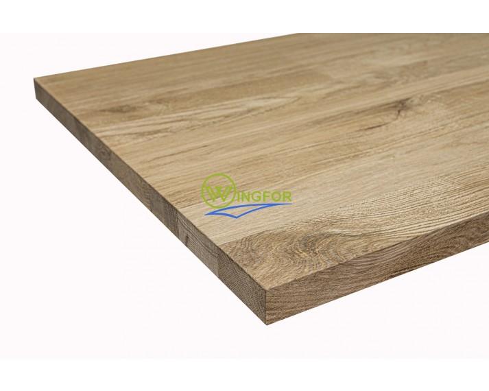 Blat kuchenny 63x250x3,8 cm, lity dąb amerykański, surowy, o szerokości 63 cm, długości 250 cm i grubości 3,8 cm