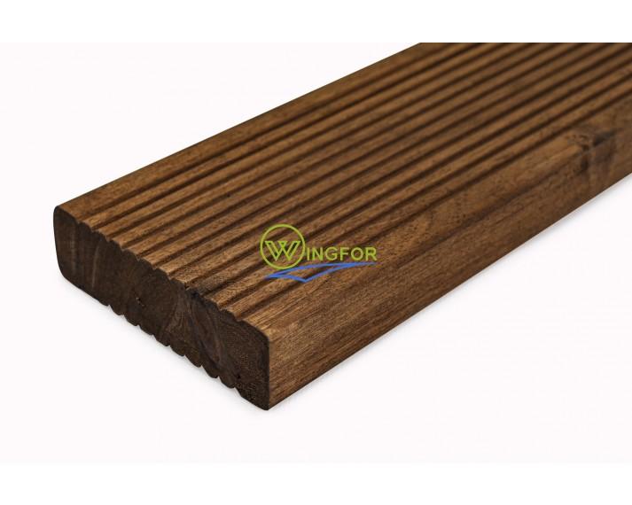 Deska tarasowa z akacji azjatyckiej, olejowana, łączona na mikrowczepy 300cm x 9cm x 2,6cm