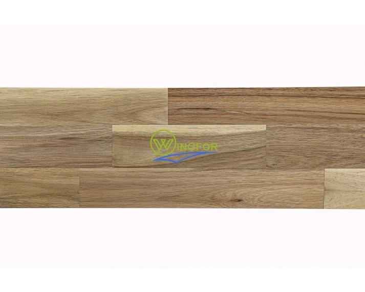 Podstopień schodowy z akacji azjatyckiej, surowy, łączony na mikrowczepy 120cm x 16cm x 1,8cm
