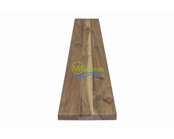 Podstopień schodowy z akacji azjatyckiej, surowy, solid 110cm x 16cm x 1,8cm