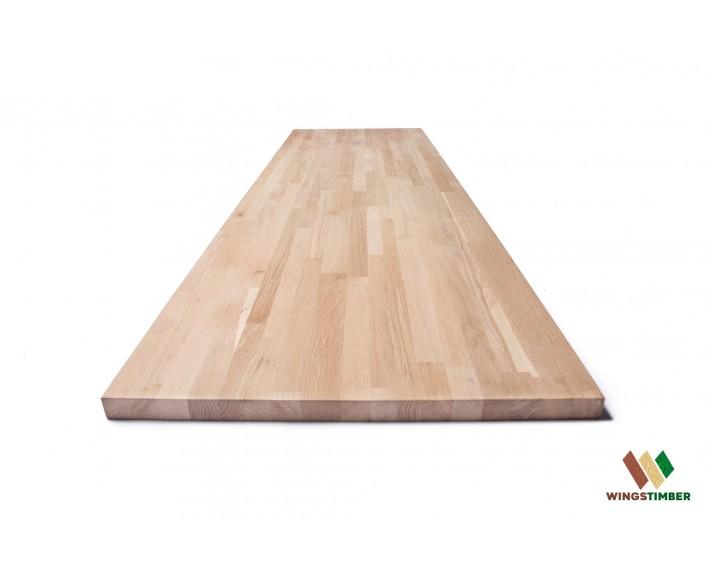 Blat kuchenny 63x200x3,8 cm, dąb amerykański AVANGARD, surowy, o szer. 63 cm, dł. 200 cm i gr. 3,8 cm