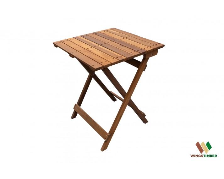 Stół składany olejowany z drewna akacji azjatyckiej 60 x 60 cm