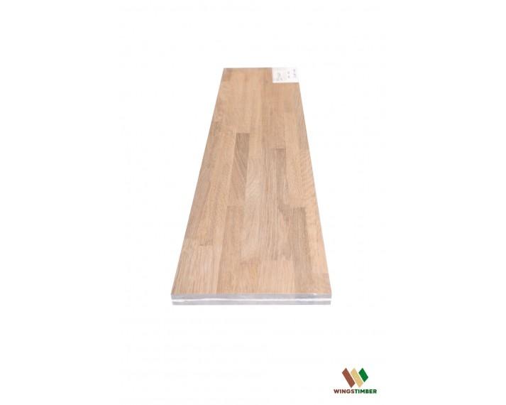 Stopień schodowy 30x110x3,5 cm, lity dąb amerykański Avangard, surowy, o szerokości 30 cm, długości 110 cm i grubości 3,5 cm
