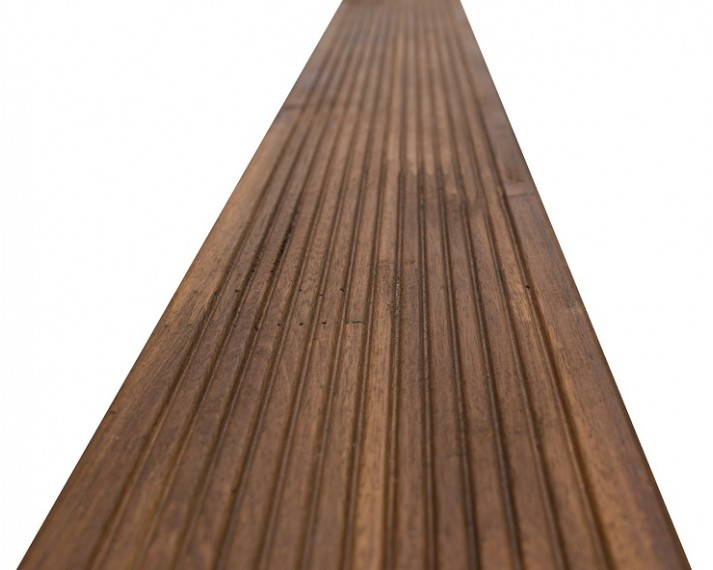 Deska tarasowa z akacji azjatyckiej, olejowana, łączona na mikrowczepy 300cm x 12cm x 2,6cm