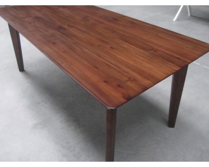 Stół z litego drewna akacji azjatyckiej 1880 x 880 x 750, MB02, lakierowany kolorem jasny orzech