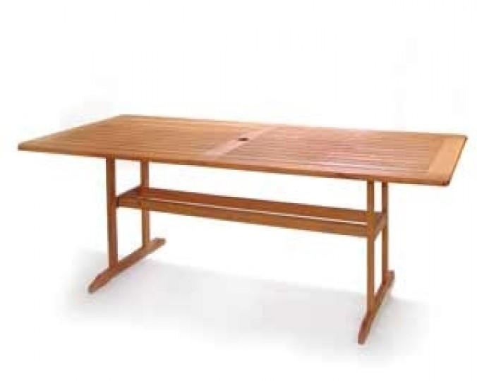 Stół ogrodowy stacjonarny, prostokątny 200 x 100 x 73 cm z akacji
