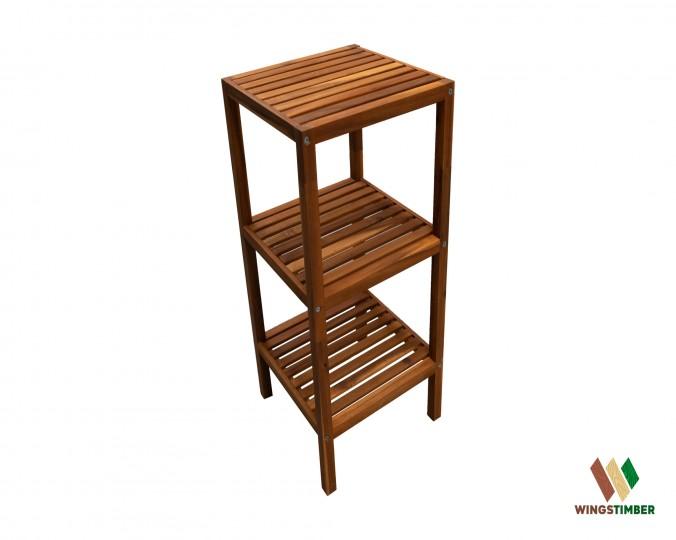 Półka łazienkowa olejowana Golden Teak  z drewna akacji azjatyckiej mała
