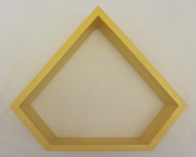 Półka dekoracyjna żółta Diamond z drewna akacji 41x33 cm