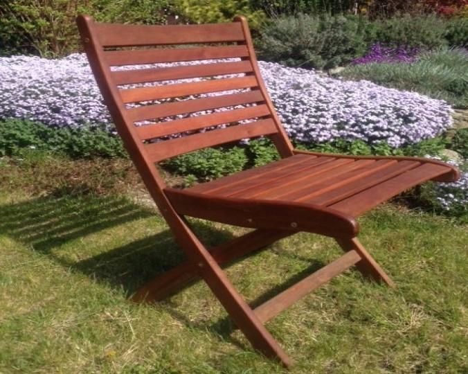 Krzesło ogrodowe składane z drewna Akacji